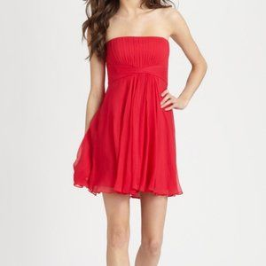 NWT BCBG Duran Strapless Chiffon Dress